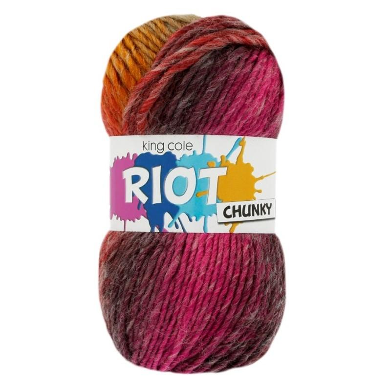 King Cole Riot Chunky - selbststreifendes Garn in tollen Farben