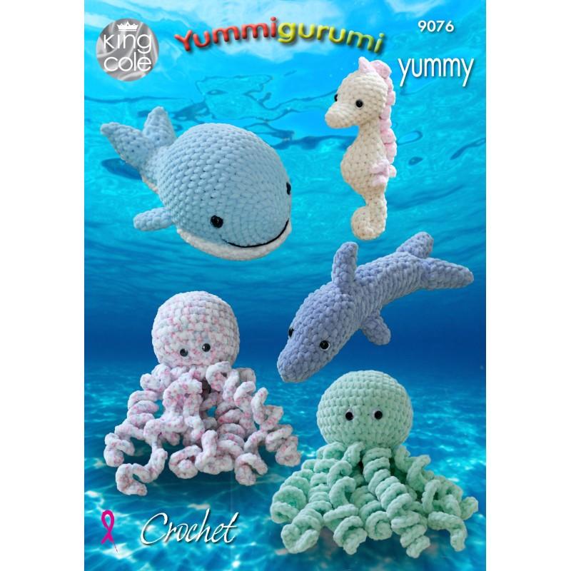 King Cole Häkelanleitung 9076 Yummigurumi Unterwasserwelt für Yummy-Garn