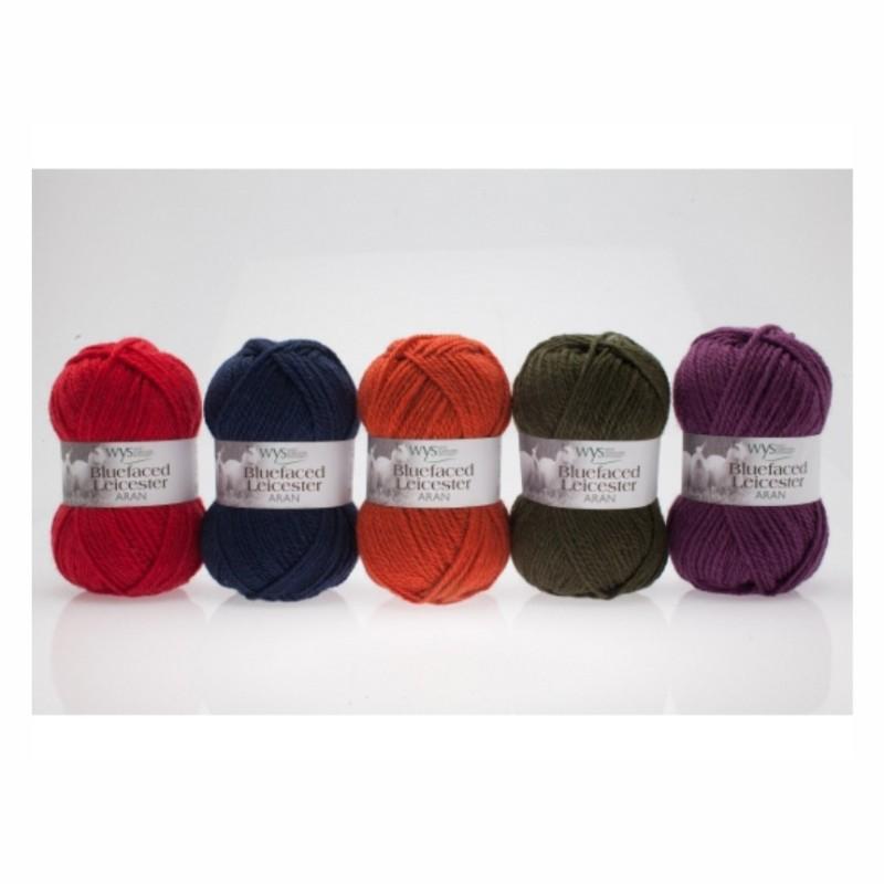 WYS - 100% Bluefaced Leicester ARAN - Autumn Collection - Premium Wolle in herbstlichen Farben