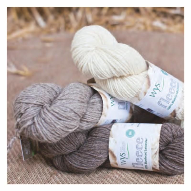 WYS - Bluefaced Leicester DK - Natural Collection - Fleece Range - ungefärbte Premium Wolle