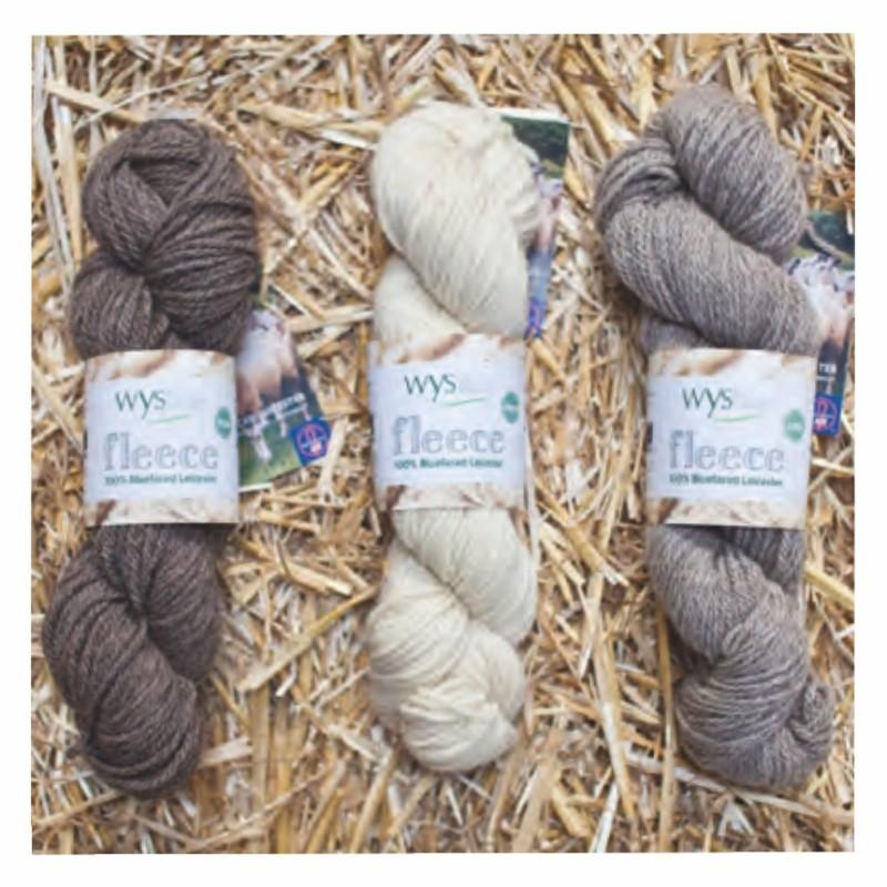 WYS - Bluefaced Leicester ARAN - Natural Collection - Fleece Range - ungefärbte Premium-Wolle