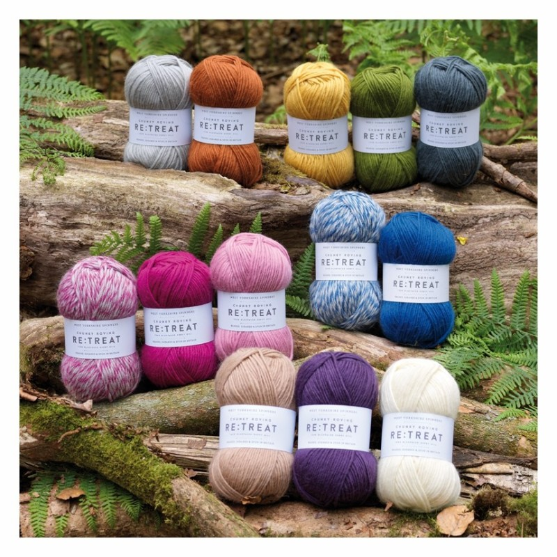 WYS - Re:Treat - Chunky Roving - kuschelweiche Wolle vom Bluefaced Kerry Hill-Schaf