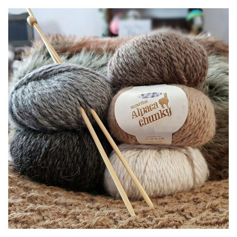 King Cole Superfine Alpaca Chunky - warm-weiches Alpaka-Garn in gedeckten Farben