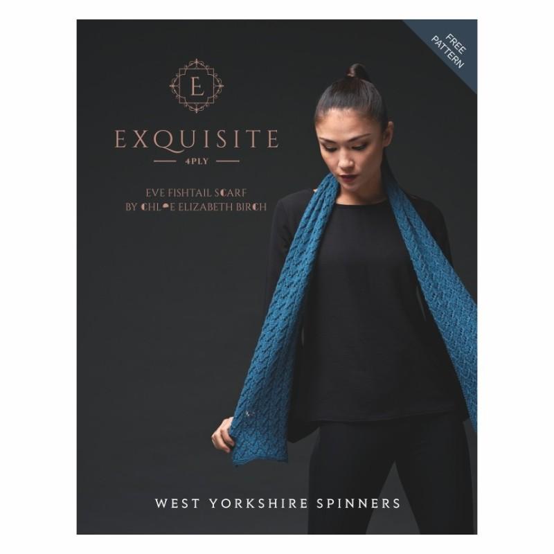 WYS - Exquisite 4ply - Eve Fishtale Scarf - Kostenlose Anleitung für einen Schal