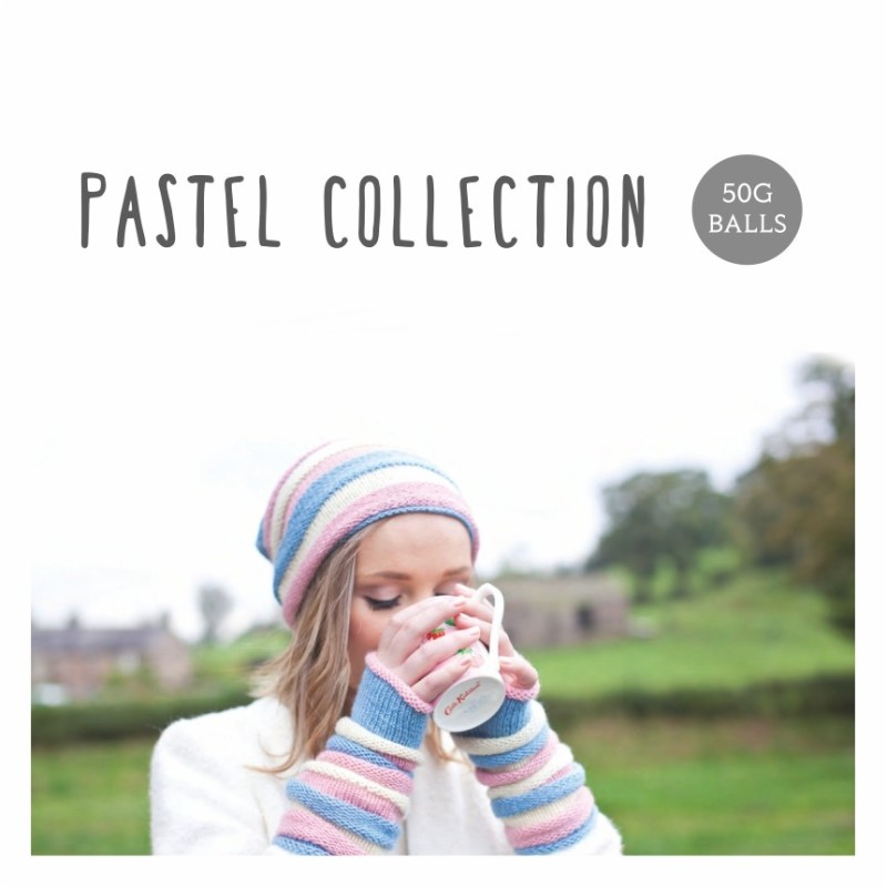 WYS - Bluefaced Leicester ARAN Pastel Collection - Premium-Wolle in Pastell-Tönen