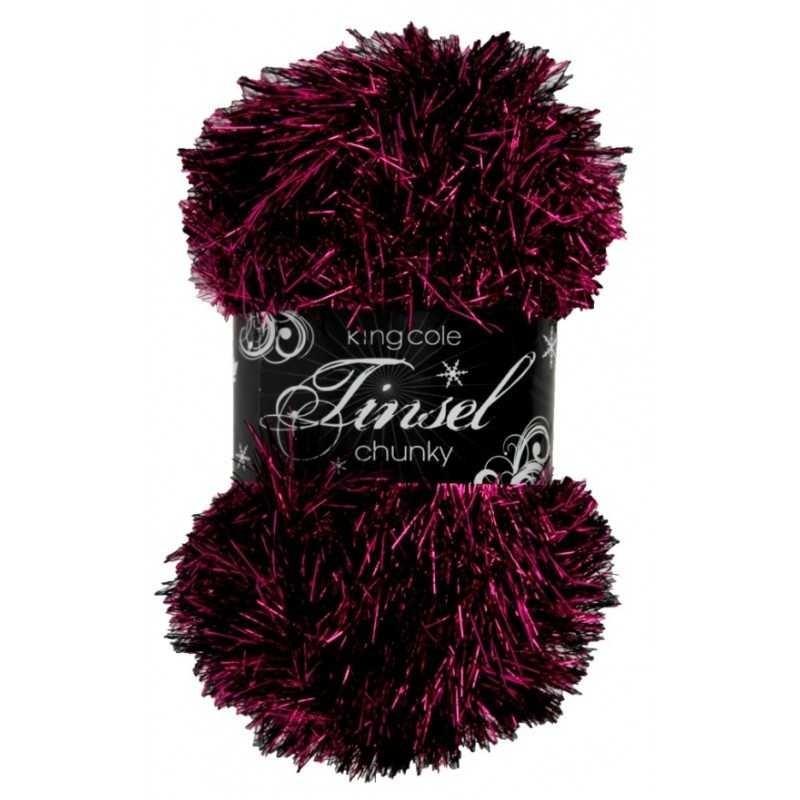 King Cole Tinsel Chunky - funkelndes Garn für Accessoires
