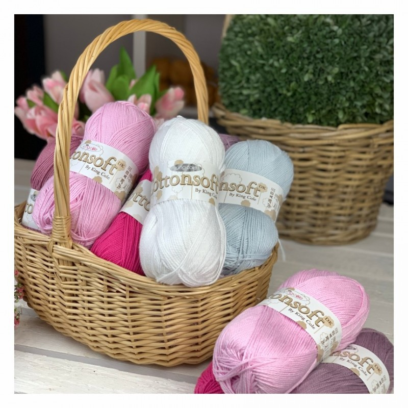 King Cole Cottonsoft DK - angenehm weiches Garn aus 100% Baumwolle