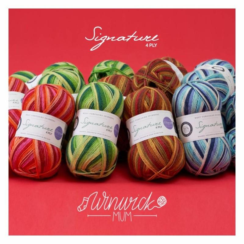 """Winwick Mum Seasons - signature 4 ply in """"vier Jahreszeiten"""" von den West Yorkshire Spinners"""